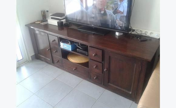 Meuble tv en bois exotique doccasion - Le bon coin meuble tele ...